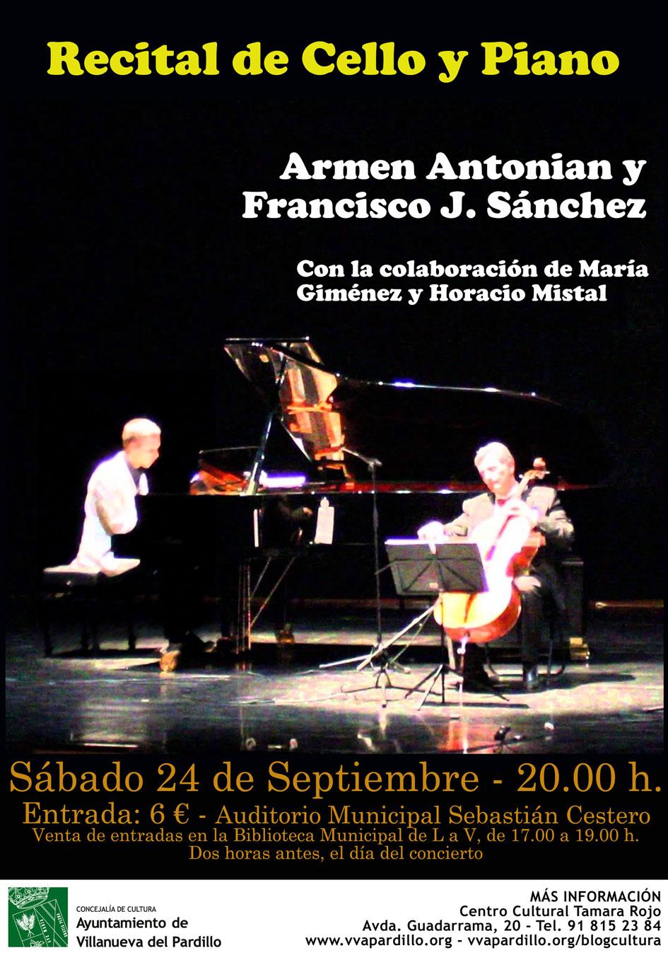 Recital de cello y piano, sábado 24 de septiembre | Blog de Cultura ...