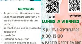 Biblioteca Luis Parra, horarios de septiembre